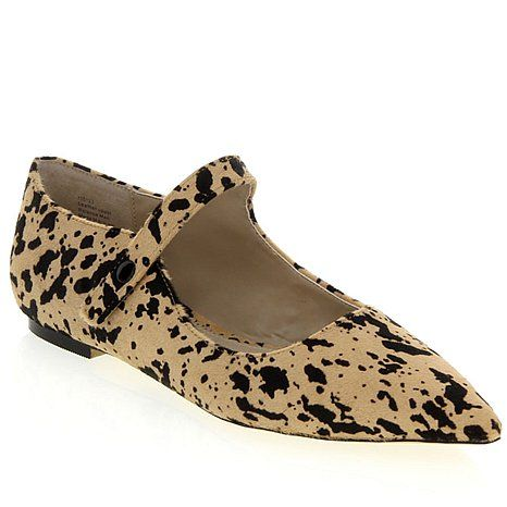 Rara Avis by Iris Apfel Haircalf Pointy Mary Jane Flat at HSN.com