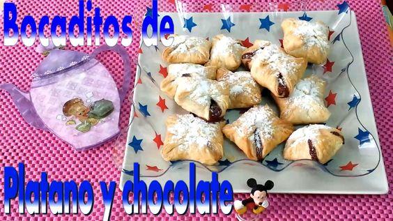 BOCADITOS DE PLATANO Y CHOCOLATE