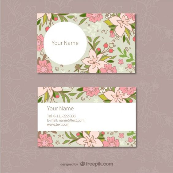Plantilla de tarjetas de visita floral
