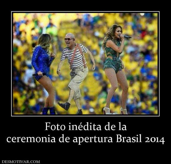 Foto inédita de la ceremonia de apertura Brasil 2014