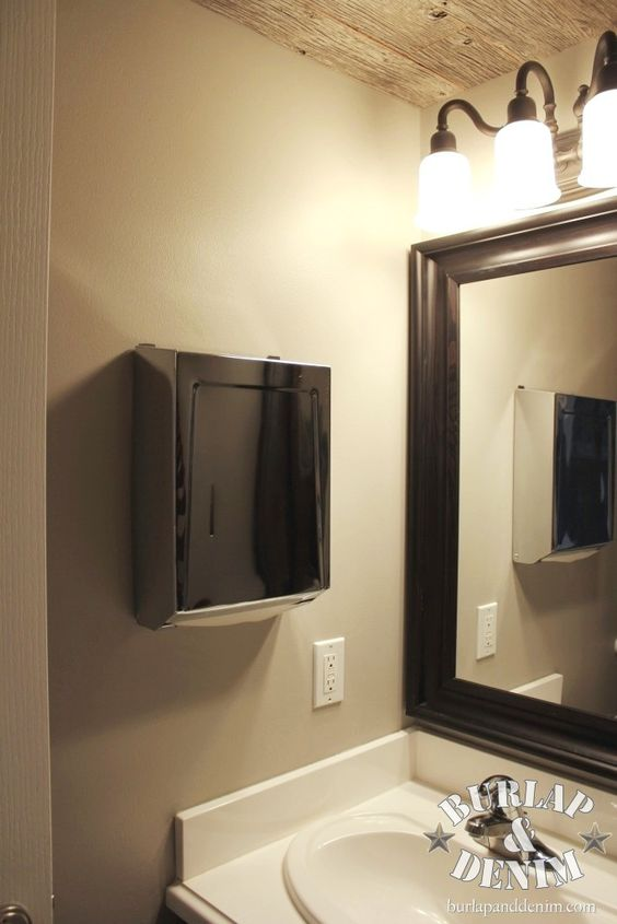 Disposable Paper Towel Dispenser In Guest Bath Sleek And Clean
