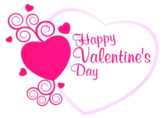 Happy Valentines Pink Heart Decor PNG Picture