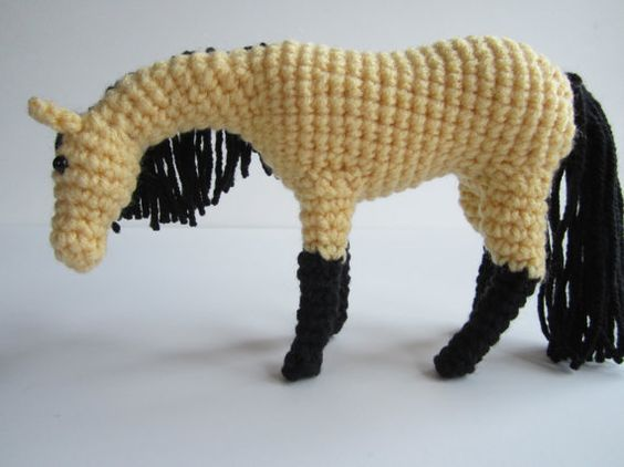 Crochet Horse Pattern Crochet Animal by ntuckercreations