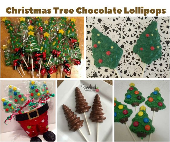 Christmas Trees Chocolate Lollipops