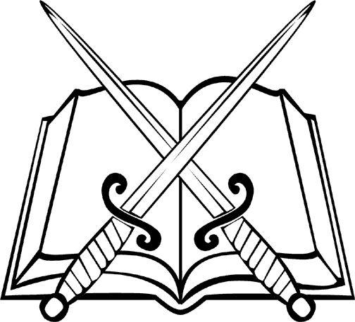 Sword and Bible Clip Art
