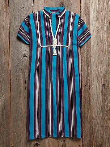 Vintage 1970s Striped Dress