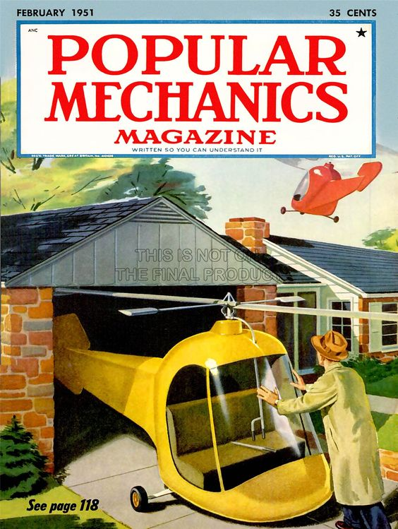 La-science-couverture-de-magazine-populaire-machanics-Helicoptere-garage-Future-Poster-bb7352b