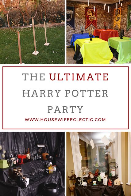 Housewife Eclectic: The ULTIMATE Harry Potter Party with free Harry Potter Printables, tutorials and Harry Potter Decor Ideas.