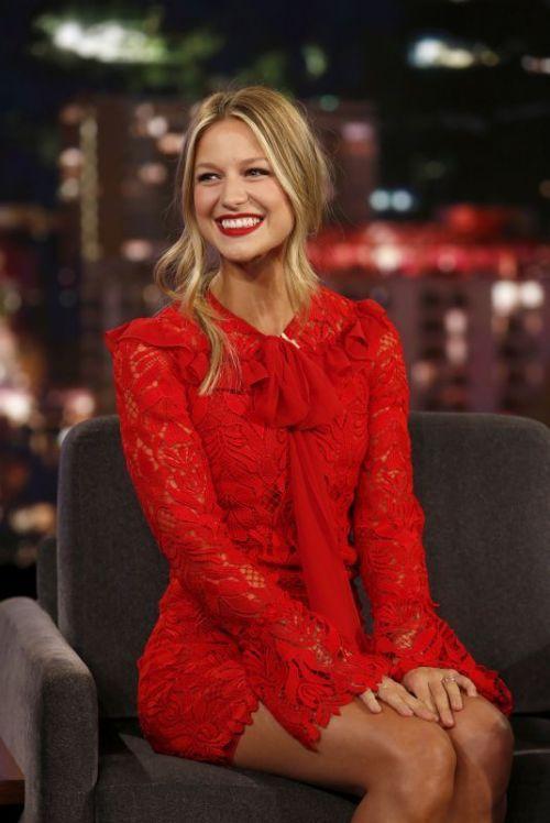 Melissa Benoist At Jimmy Kimmel Live 01 15 2018 Melissa Benoist Hot Mellisa Benoist Melissa Marie Benoist