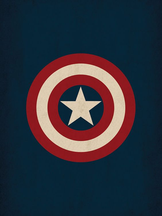 marvel comic store superheroes minimalist captain america art poster retro style home decor