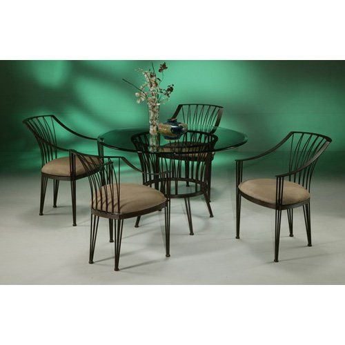 Have to have it. Pastel Metropolitan 5 pc. Glass Top Dining Table Set $1679.00