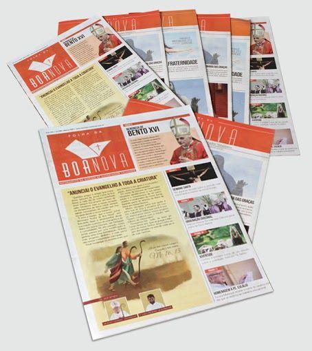 Jornal Folha da Boa Nova – Diocese de Gov. Valadares (Produção mensal)