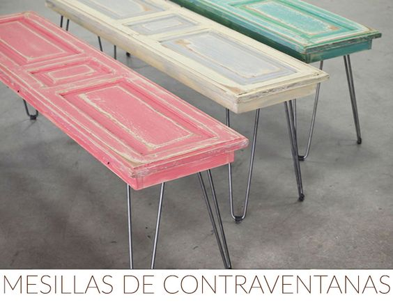 IDEAS DECORACION CONTRAVENTANAS MESITAS: