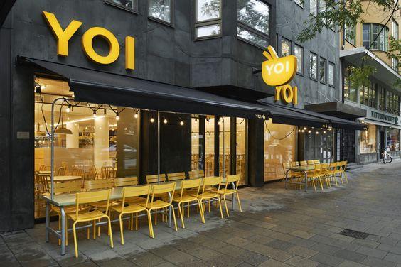 Interior design for the fast food restaurant yoi for Design pinterest stockholm google