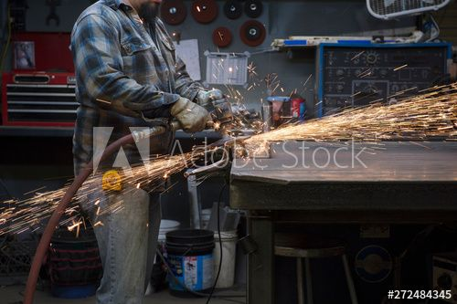 Midsection Of Man Working In Workshop Affiliate Man Midsection Workshop Working Ad In 2020 Resume Design Template Stock Photos Template Design