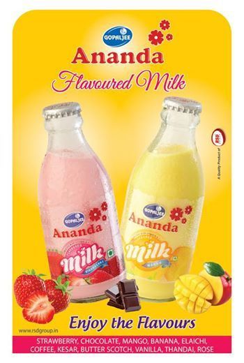 #Gopaljee #Ananda Flavoured Milk Gopaljee Ananda #Flavoured #Milk is known for all the goodness of pure and fresh milk combinedwith the magic of special flavours. Ananda flavoured milkis available in the following flavours: * Vanilla * Chocolate * Strawberry * Kesar * Rose etc. Contact us at- rsdgroup.in/