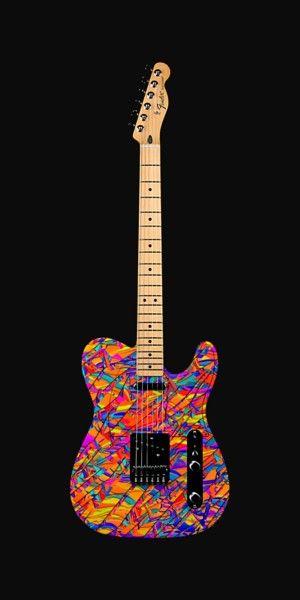 Guitar Music Art Guitar Wall Art Fender Guitar Custom Painted Guitar Wall Art Guitar Painting Guitar