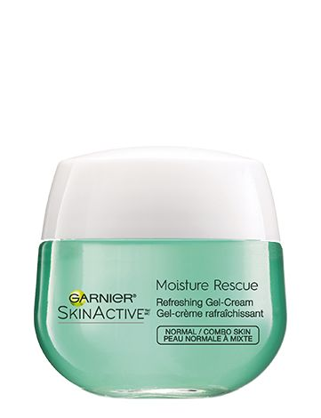"Moisture Rescue Refreshing Gel Cream, one of the best drugstore moisturizers for dry skin! ""A product that instantly locks in 24-hour moisture and soothes dry skin? Count us in. Just as the name suggests, this product is a moisture rescue for dehydrated skin that's gone dry due to external aggressors—we're looking at you stress and pollution! The oil-free formula will leave your skin feeling fresher and looking smoother."""