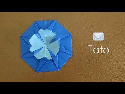 Pinwheel Flower Lid Tutorial - Modular Origami Box - Paper Kawaii ... | 360x480