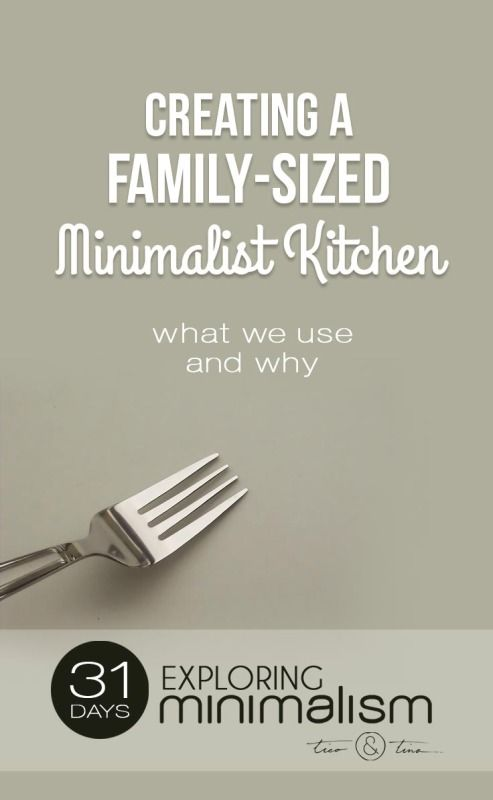 My perfect minimalist kitchen for a family minimalist for Minimalist living checklist