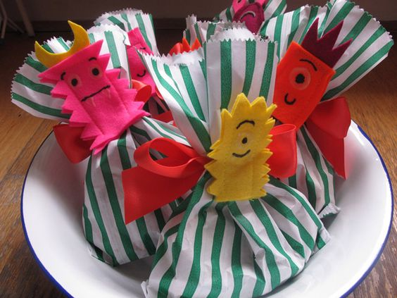 Little monsters party bags