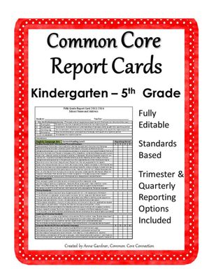 Progress Reports - Quick and Easy and FREE - report card template