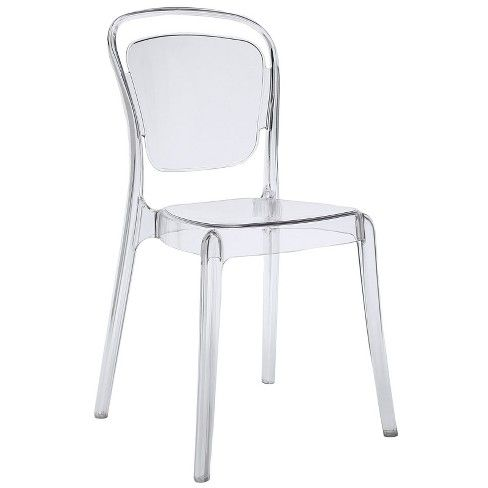 Entreat Dining Side Chair Clear Modway Side Chairs Dining