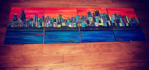 Chicago Skyline Painting - Taralynn McNitt