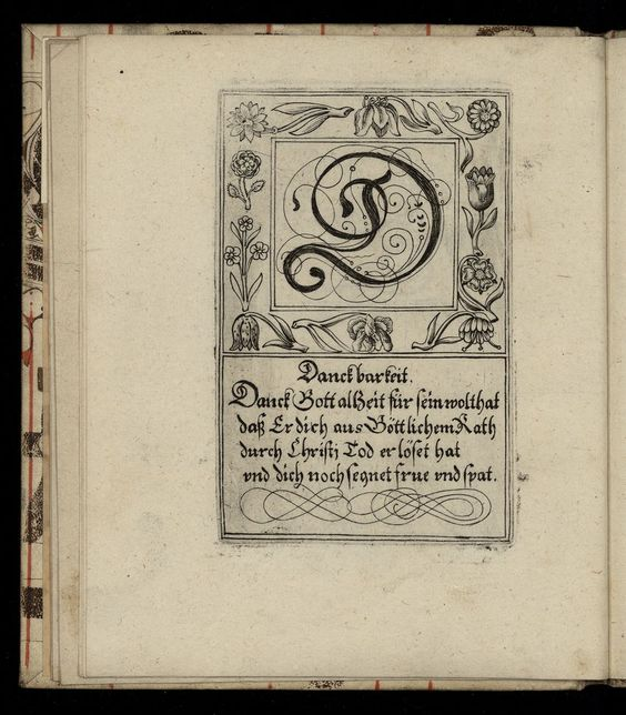 what to put in a cover letter the letter d from a 1713 german letter style book 1713