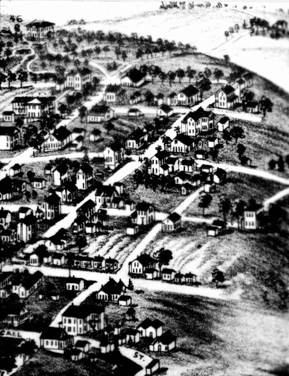 Section of 1885 Beck & Pauli map showing Macdougal House - Tallahassee, Florida