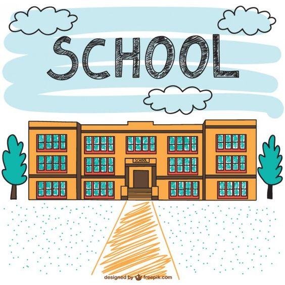 Cara Menggambar Sekolah yang Mudah dan Bagus
