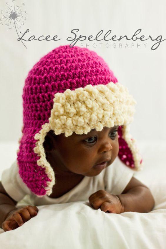 Crochet Hat Pattern Aviator Hat Crochet by CrochetBabyBoutique ...