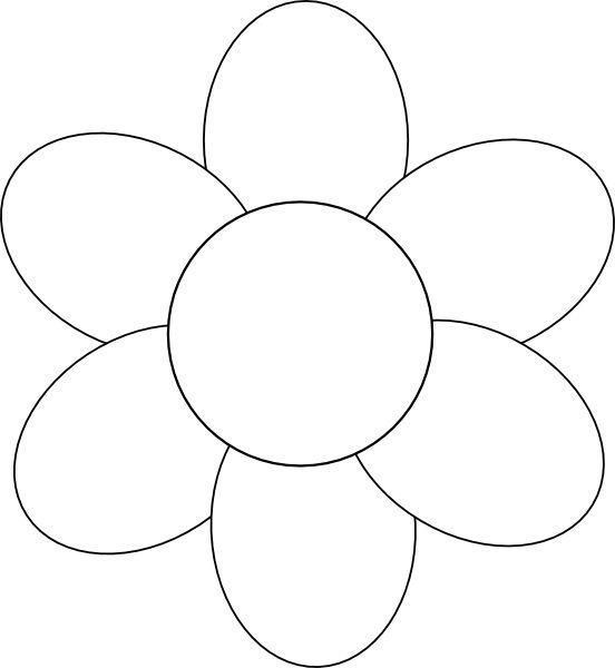 Flower Six Petals Black Outline Clip Art at Clker.com - vector clip ...