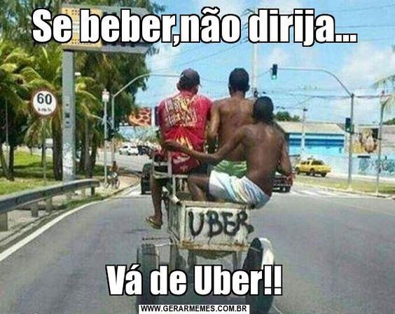 Ainda bem que temos o Uber para nos levar para casa…