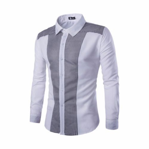 Luxury Fit Casual Formal Men/'s Shirt Stylish T-Shirt Tops Long Dress Slim Sleeve