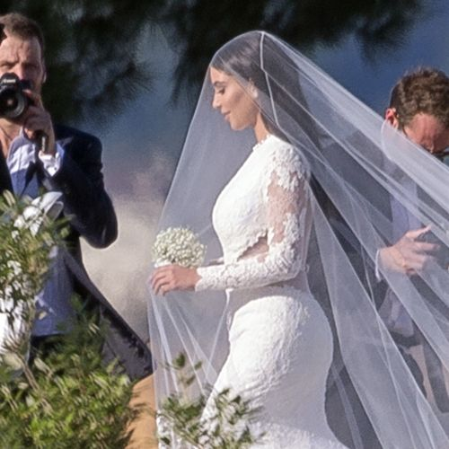 Kim K Wedding Gown: Kim Kardashian Wedding