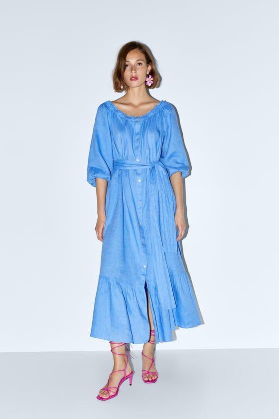 39+ Blue linen dress zara ideas in 2021