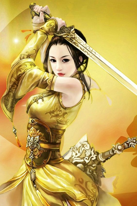 woman fantasy art Asian warrior