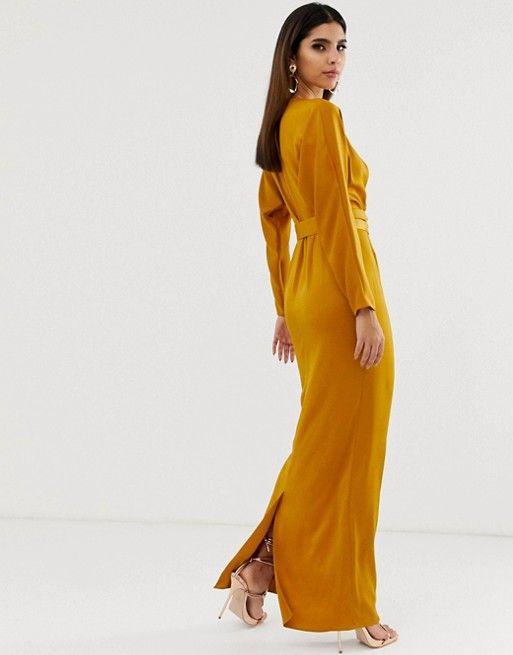 33+ Asos design satin batwing sleeve maxi dress trends