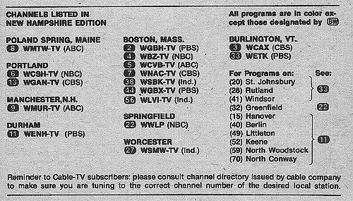 New Hampshire Edition September 7 1974 Tv Guide Tv Guide Listings New Hampshire