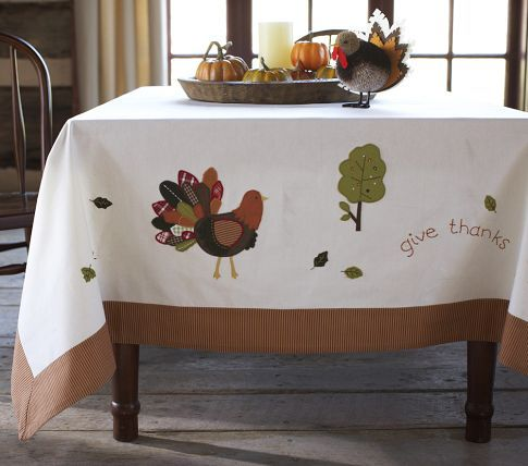 Tablecloths thanksgiving and pottery barn kids on pinterest for Pottery barn thanksgiving