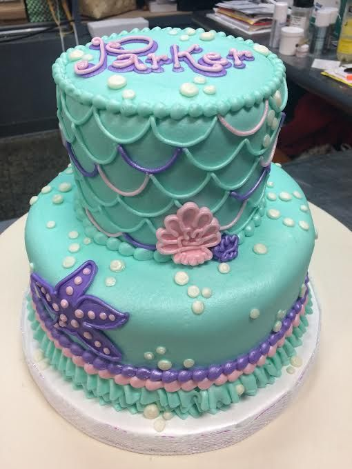 Mermaid Birthday Cake Adrienne Co Bakery Mermaid Birthday