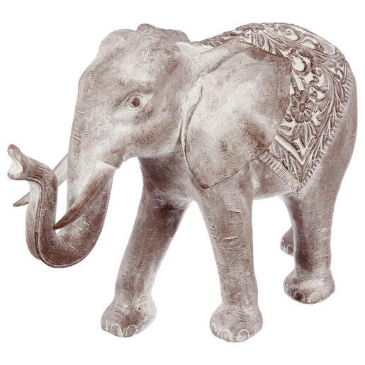 Creez Un Decor Exotique Aux Accents Orientaux Grace A Cet Elephant Blanchi En Resine Un Animal Elegant Et Majestueux Q En 2020 Statue De Jardin Statue Elephant Statue
