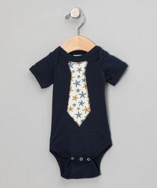Blue Star Tie Bodysuit- infant
