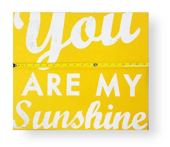 You Are My Sunshine 17 x 19.5 by GoJumpInTheLake on Etsy