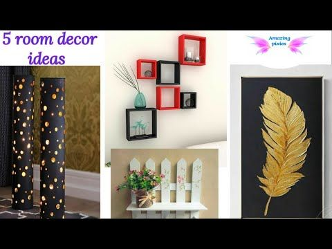 5 Home Decor Ideas Diy Crafts 5 Minute Crafts Craft Craft Ideas Room Ideas Amazing Pixies Youtu In 2020 Diy Crafts 5 Minutes Decor Crafts Diy Wall Artwork