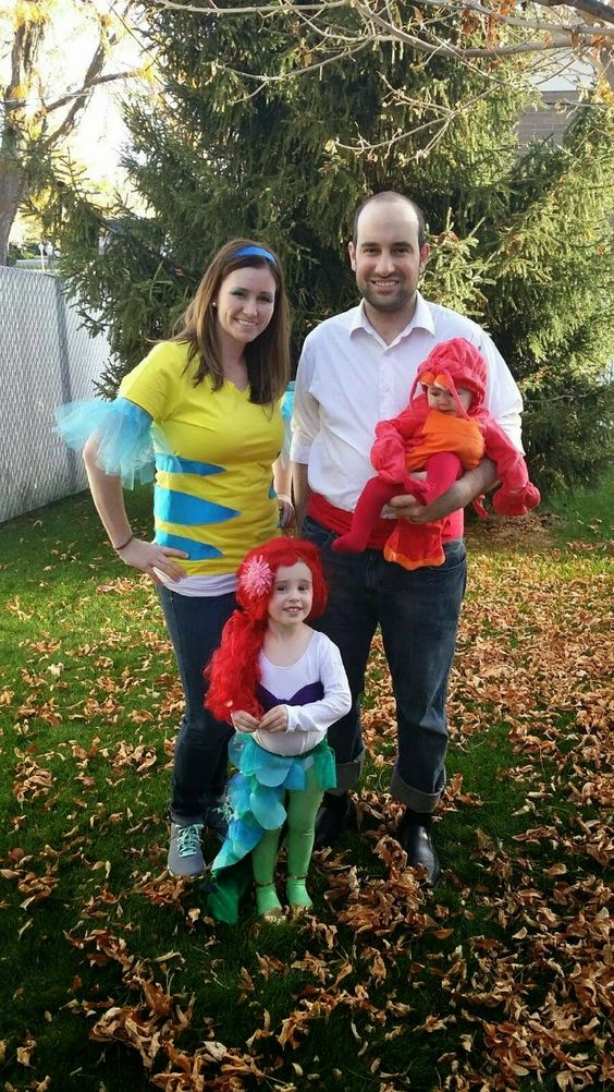 Little Mermaid family - we couldn't do this exactly but how cute is this?!