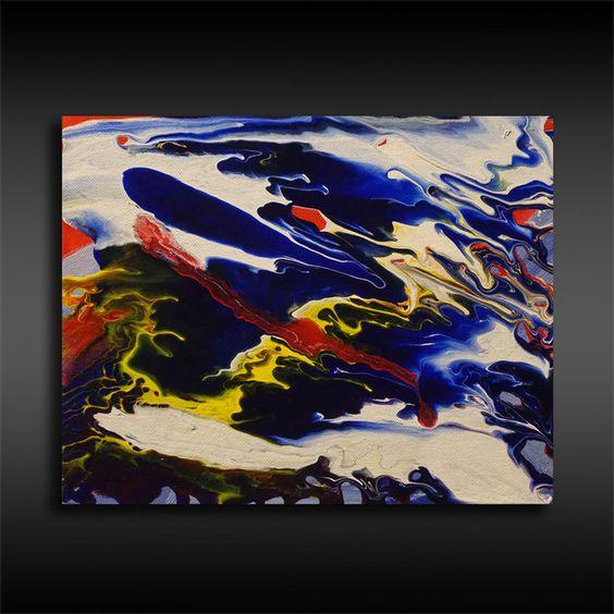 Acrylmalerei - Acryl Bild 1, Abstrakte Malerei, Acrylmalerei Bunt - ein Designerstück von BrigitteKoenig bei DaWanda