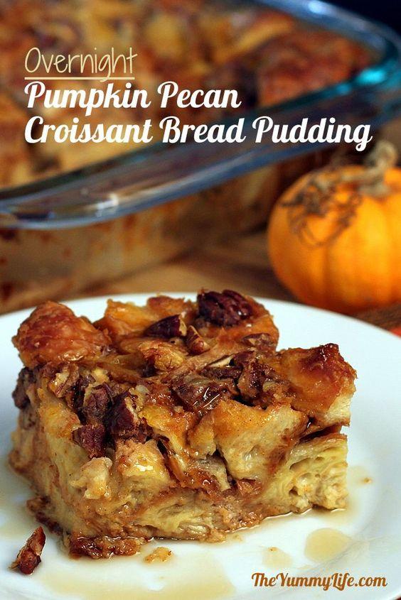 Pumpkin Pecan Croissant Bread Pudding | Recipe | Pumpkins, Pecans and ...