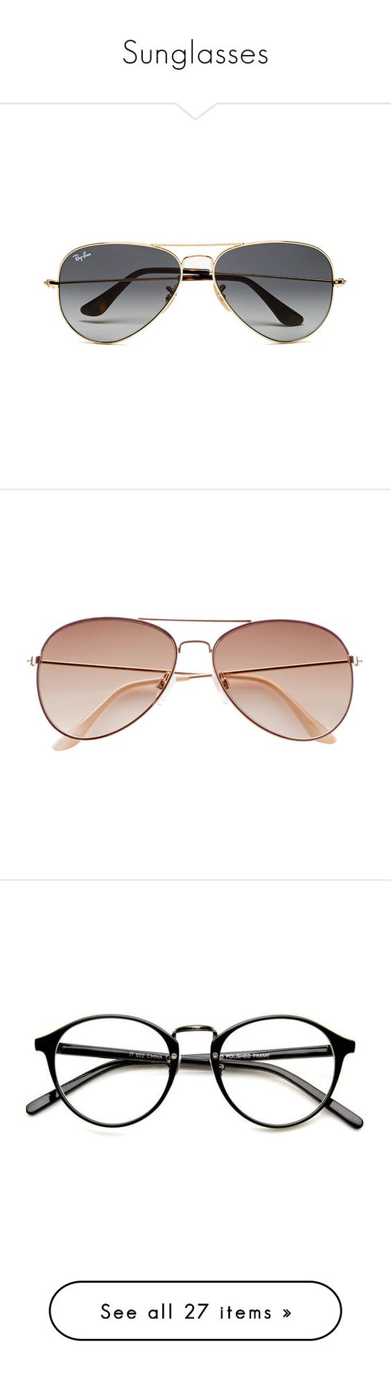 """""""Sunglasses"""" by isabel-harsh ❤ liked on Polyvore featuring men's fashion, men's accessories, men's eyewear, men's sunglasses, accessories, men, glasses, sunglasses, men's wear and mens gold aviator sunglasses"""